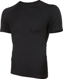 Koszulka męska z krótkim rękawem Active Wool Brubeck (czarna) / Tanie RATY - 2843349983