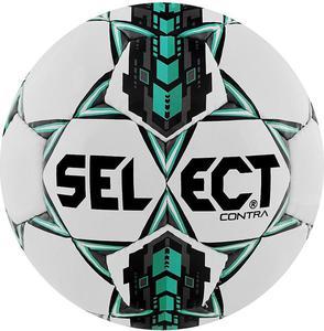 Piłka nożna Contra 5 Select (biało-miętowa) - 2845152164