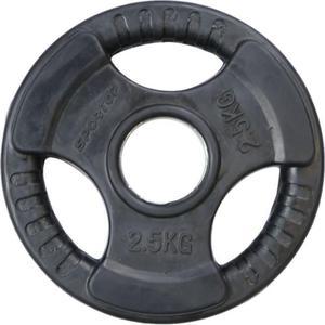 Obciążenie olimpijskie żeliwne ogumowane 2,5kg 51mm Sportop (czarne) - 2845375769
