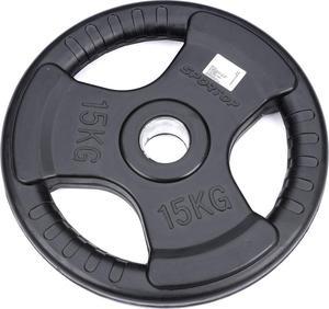 Obciążenie olimpijskie żeliwne ogumowane 15kg 51mm Sportop (czarne) / Tanie RATY - 2845375770
