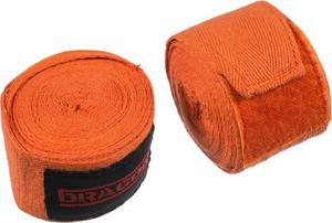 Bandaż bokserski bawełniany 4m Dragon (pomarańczowy) - 2846403634