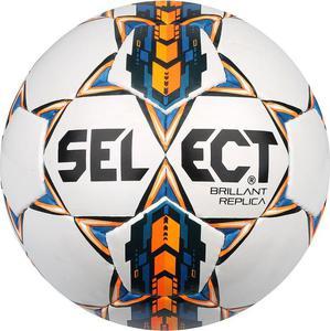 Piłka nożna Brillant Replika 5 Select (biało-pomarańczowo-niebieska) - 2846403680