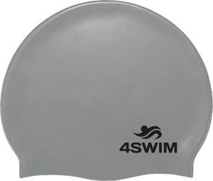 Czepek pływacki Solid Color Cap 4Swim (srebrny) - 2846901261