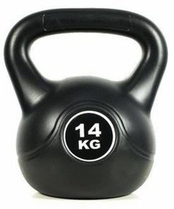 Hantla kettlebell Black 14kg Easy Fitness - 2847430882
