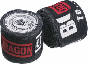 Bandaż bokserski 5m Dragon (czarny) - 2849892342