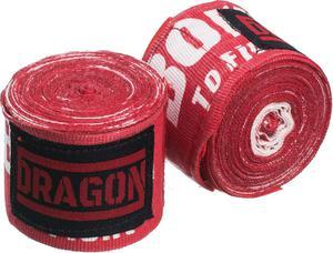 Bandaż bokserski 5m Dragon (czerwony) - 2849892343