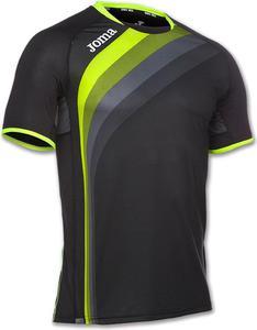 Koszulka męska Running S/S Joma (czarna) - 2852787498