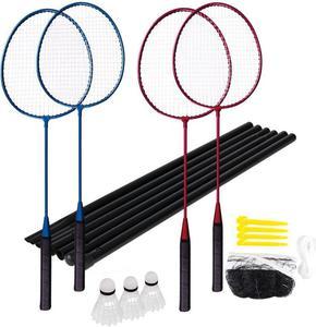 Zestaw do badmintona 4 rakiety, 2 lotki + siatka Fun Start Spokey / GWARANCJA 12 MSC. - 2822241072