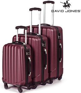 Elegancki zestaw walizek podróżnych David Jones (fuksja) / GWARANCJA 24 MSC. / Tanie RATY / DOSTAWA GRATIS !!! - 2852787594