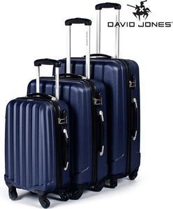 Elegancki zestaw walizek podróżnych David Jones (granatowa) / GWARANCJA 24 MSC. / Tanie RATY / DOSTAWA GRATIS !!! - 2852787595