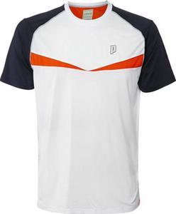 Koszulka męska Dart Panel Crew Prince (biało-pomarańczowa) / Tanie RATY - 2853313207