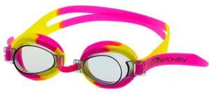 Okulary pływackie dziecięce Jellyfish (różowo-żółte) / GWARANCJA 12 MSC. - 2822241088