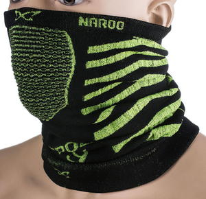 Maska treningowa, komin X9 30cm Naroo Mask (czarno-zielona) - 2855366786