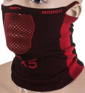Maska treningowa, komin X5 25cm Naroo Mask (czarno-czerwona) - 2855018159