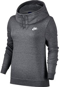 Bluza z kapturem damska Sportswear Funnel-Neck Hoodie Nike (grafitowa) / Tanie RATY - 2855366873