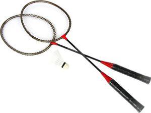 Zestaw do badmintona 2 rakietki + lotka + pokrowiec - 2822241637