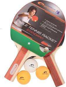 Zestaw do tenisa stołowego: 2 rakietki + piłeczki Spokey Standard Set / GWARANCJA 12 MSC. - 2822241700
