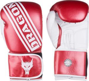 Rękawice bokserskie Dragon Champion skóra naturalna (czerwone) / GWARANCJA 12 MSC. / Tanie RATY - 2856032256