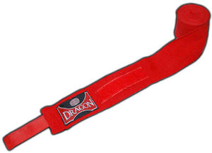Bandaż bokserski bawełniany 3m Dragon (czerwony) - 2822241961
