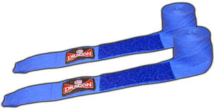 Bandaż bokserski bawełniany 4m Dragon (niebieski) - 2822241966