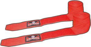 Bandaż bokserski bawełniany 4m Dragon (czerwony) - 2822241967