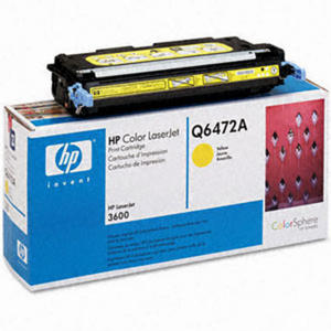 Oryginał Toner HP Q6472A YELLOW toner HP 502A toner do drukarki HP 3600 - 2823907367