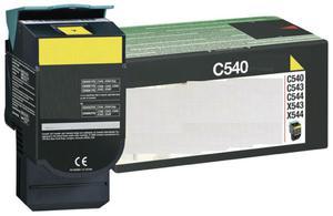 Zamiennik Toner Lexmark C540 YELLOW żółty toner do drukarki C540/C543/C544 oem C540H1YG większy od C540A1YG - 2823907627