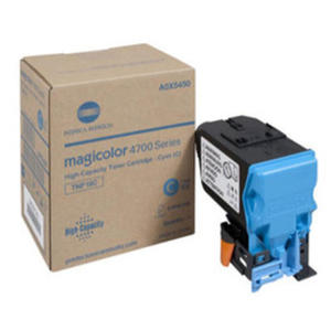 Oryginalny Toner Minolta Magicolor 4750 CYAN niebieski toner 6K oem A0X5450 toner TNP18C - 2823907724