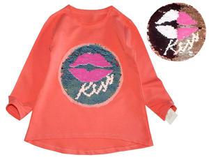 Bluzka z Magiczną Aplikacją 3D KISS - cekiny - 2847553030