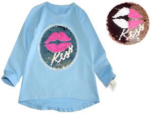 Bluzka z Magiczną Aplikacją 3D KISS - cekiny - 2847553031