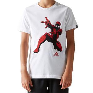 Koszulka Adidas Spiderman t-shirt dziecięcy męski sportowy - biały - 2832466473