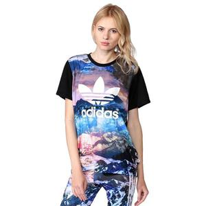 Koszulka Adidas Originals Mountain Clash damska t-shirt sportowy z printem - 2832466571