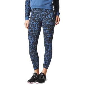 Legginsy Adidas Team Printed damskie getry termoaktywne fitness - 2837974240