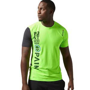 df83c72e3 Koszulka Reebok One Series Breeze męska t-shirt sportowy treningowy -  limonkowy - 2844412432