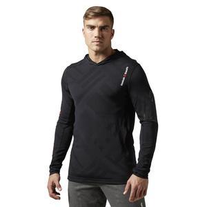 4b2237c3f Bluza Reebok CrossFit CorDura Jaquard męska do biegania z kapturem -  2846383799