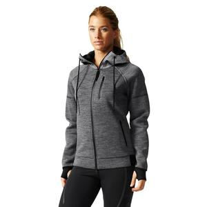 Bluza Adidas Standard 19 damska ocieplana sportowa rozpinana z kapturem - 2846602675