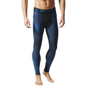 Spodnie Adidas TechFit ClimaChill męskie getry kompresyjne termoaktywne - czarny || niebieski - 2846602701