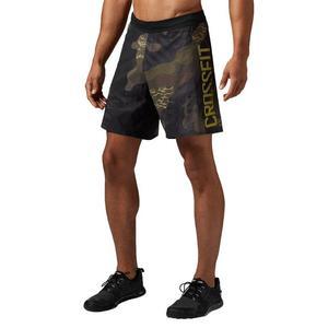 Spodenki Reebok CrossFit Super Nasty Speed męskie sportowe treningowe - czarny || zielony - 2846602707