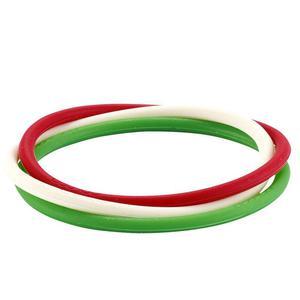 Opaska Adidas opaski jonizuj�ce gumki na nadgarstek - zielono-bia�o-czerwony - 2832465889