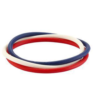 Opaska Adidas opaski jonizuj�ce gumki na nadgarstek - niebiesko-bia�o-czerwony - 2832465891