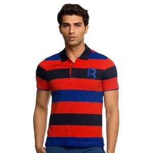 Koszulka polo Reebok Stripe męska t-shirt polówka sportowa