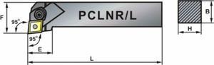 Nóż tokarski składany PCLNR 4040-19 95 - 2827628272