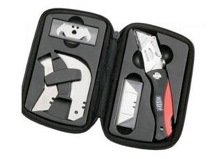 ERDI Nóż składany z chowanym ostrzem z rękojeścią z tworzywa i magazynkiem na ostrza w zestawie DBK PH (DBKPH-SET) - 2827631033