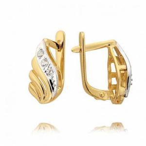 Kolczyki złote z cyrkoniami N43K