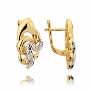 Kolczyki złote z cyrkoniami N135K