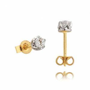 Kolczyki złote z cyrkoniami N152K