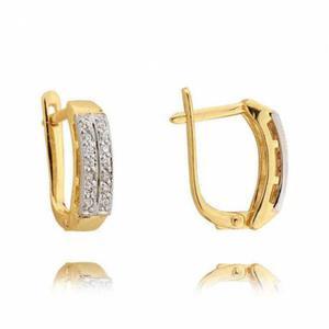 Kolczyki złote z cyrkoniami N156K