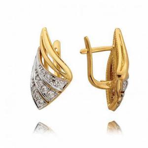 Kolczyki złote z cyrkoniami N167K