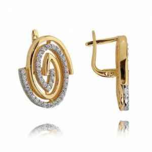 Kolczyki złote z cyrkoniami N230K