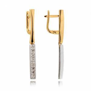 Kolczyki złote z cyrkoniami N231K